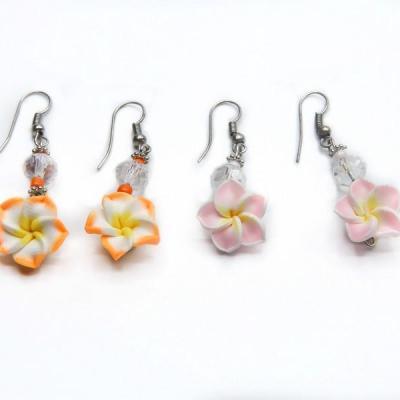 Boucles d'oreilles fleur perle fantaisies