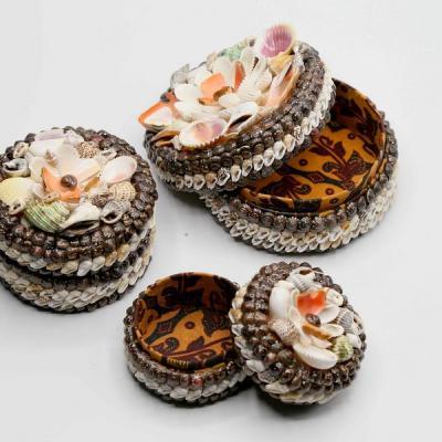 Set de 3 boîtes de coquillage