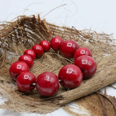 Bracelet grosse perle bois uni