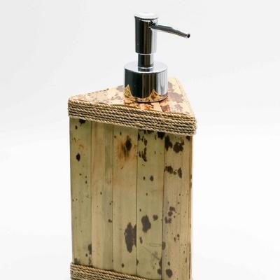 Distributeur de savon bambou pompe chromé