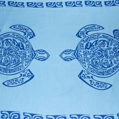 Paréo Printing  tortues tribales