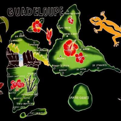 Paréo carte Guadeloupe