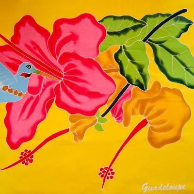 Paréo Hibiscus 1 colibri