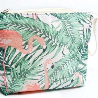 Pochette jûte flamand rose