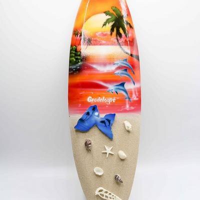Planche de surf sable murale