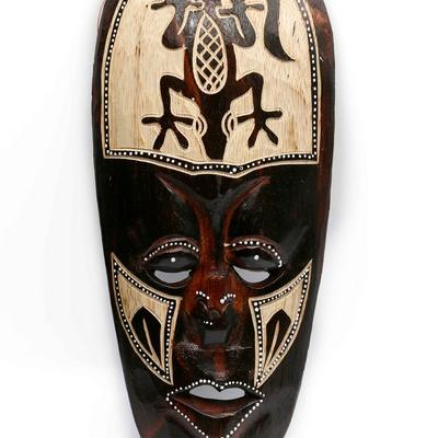 Masque  bois mural  32 cm