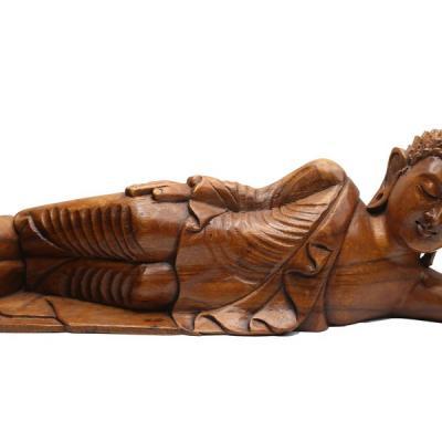 Statuette bouddha allongé