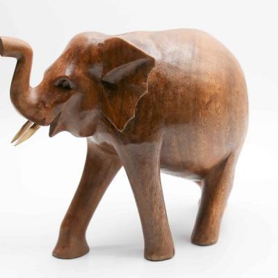 Éléphant bois 15 cm