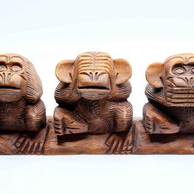 Les 3 «singes de la sagesse»