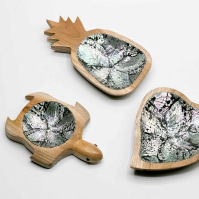Vide poche teck abalone
